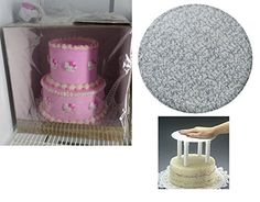 Cakesupplyshop 10inch 12inch Two Tier Round Cake Stacking Kit -Seperator Plate, 16inch Tall Cake Box, Silver Drum, Columns & More CakeSupplyShop http://www.amazon.com/dp/B00NY8AC8U/ref=cm_sw_r_pi_dp_ZnFxvb0R1F4NW