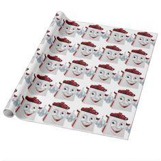 Gift Present Cartoon Character Mascot Wrapping Paper - christmas wrappingpaper xmas diy holiday