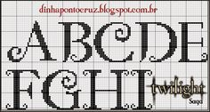 Dinha Cruz Point – welcome ! Needlepoint Belts, Easy Cross, Cross Stitch Letters, Letter Patterns, Knitting Charts, Monogram Letters, Cross Stitching, Stitch Patterns, Blog