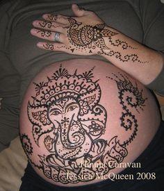 prenancy henna.jpg by Jessica - Henna Caravan, via Flickr
