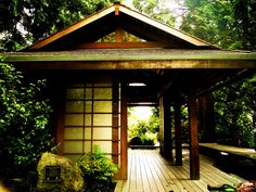 Bellevue Botanical Gardens, Japanese Tea house