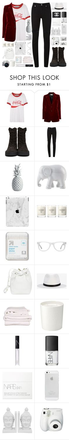 """""""Camille Rowe"""" by igedesubawa ❤ liked on Polyvore featuring Wildfox, Yves Saint Laurent, YEEZY Season 2, McQ by Alexander McQueen, Lazy Susan, The Elephant Family, Baxter of California, Up & Up, Muse and Mansur Gavriel"""