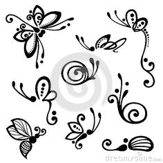 dragonfly butterfly drawing: Vector set of stylized insect ornament, con . ♡ butterfly dragonfly drawing: Vector set of stylized insect ornament, patterned design. Butterfly Drawing, Dragonfly Drawing, Tribal Butterfly Tattoo, Henna Tattoo Designs, Tattoo Ideas, Doodle Art, Painted Rocks, Nail Art Designs, Tribal Designs