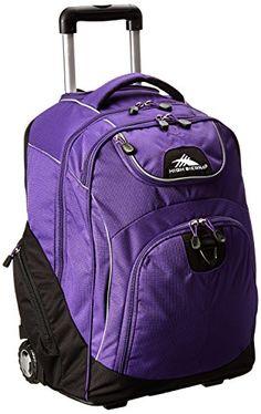 High Sierra Freewheel Wheeled Book Bag Backpack See More Powerglide Purple