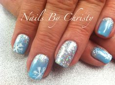 Whimsy Winter Sparkle Shellac Nails Christy@Mane Tamers Mishawaka More
