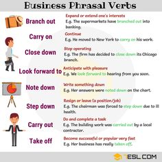 Easy Ways to Learn Phrasal Verbs in English - ESLBuzz Learning English English Verbs, English Vocabulary Words, English Phrases, Learn English Words, English Grammar, English Tips, English Study, English Lessons, British English