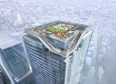SANAA, kengo kuma + nikken top tokyo skyscraper with rooftop plaza