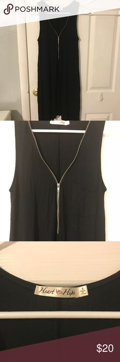 Love Culture Black Dress Zipper is adjustable. Never Worn only tried on. I'm 5'2 so it hits my knees. Love Culture Dresses Midi