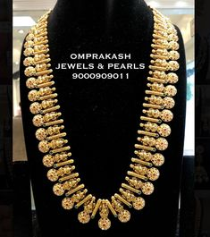 Check out some of the perfect bridal haram necklace for brides by the brand Om prakash jewels. Beaded Jewelry Designs, Gold Earrings Designs, Gold Jewellery Design, Necklace Designs, Wedding Necklace Set, Gold Wedding Jewelry, Gold Jewelry, Gold Necklace, Antique Necklace