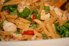 Grilled Chicken Penne al Fresco - one of my FAV!!  Love her review of the recipe and products here, too! See something you don't have yet? www.pamperedchef.biz/cookingwithcora