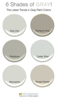 6 Shades of Gray! • Favorite trendy and current gray paint colors for today • Tips and Ideas!