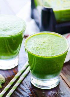 Stay on track during the holidays: Snack on this great Green Detox Smoothie, with a full cup of sweet, healthy mango in every glass (plus lemon, ginger, kale, and more for a huge shot of nutrients!)