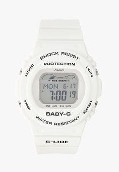 Baby-G Digitaluhr - weiss - Zalando. Baby G, Casio Watch, Digital Watch