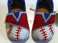 Texas Rangers Tiny TOMS by DesignsByMicahInc on Etsy