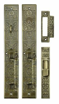 reproduction antique door locks. Victorian Vintage Door Hardware Reproduction Windsor Pattern Entry Set 15 3/4\ Antique Locks O