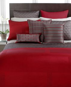 Love red in a bedroom - Master bedroom bedding