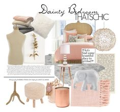 """Dainty Bedroom"" by ravnnic ❤ liked on Polyvore featuring interior, interiors, interior design, hogar, home decor, interior decorating, John Robshaw, Worlds Away, Jaipur y Tommy Mitchell"