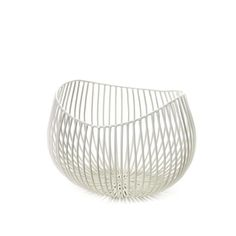 Serax Antonio Sciortino Small Wire Basket: Small, deep powder coated wire basket. Lovely for displaying fruit.  Designed exclusively for Serax by Italian designer Antonio Sciortino.