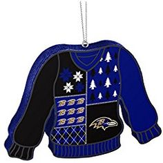 e66d65a6a94 Baltimore Ravens Official NFL 5.5 inch Foam Ugly Sweater Christmas Ornament  by Forever Collectibles 239616 Ugly