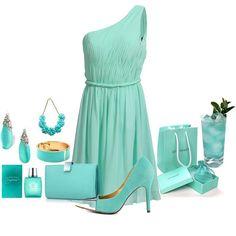 Blue One Shoulder Chiffon Bridesmaid Dress/Prom Dress Knee Length Short Dress