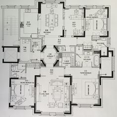 Has definite potential Modern Floor Plans, Small House Floor Plans, House Plans, Apartment Layout, Apartment Plans, Architecture Plan, Residential Architecture, Autocad Layout, Floor Plan Drawing