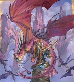 Dragon Fantasy Dragon, Fantasy Warrior, Dragon Art, Fantasy Illustration, Character Illustration, Fantasy Creatures, Mythical Creatures, Dragons, Character Art