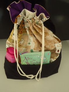 Linen day trip bag by drawastring on Etsy, $15.00