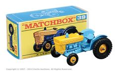 Matchbox Regular Wheels No.39c Ford Tractor.