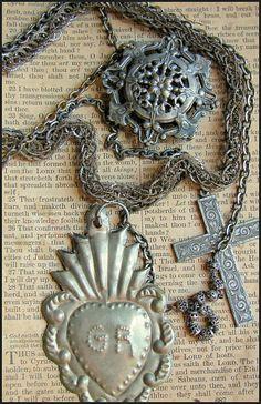 Sacred Ex Voto Milagro Necklace by thesacredmaiden on Etsy