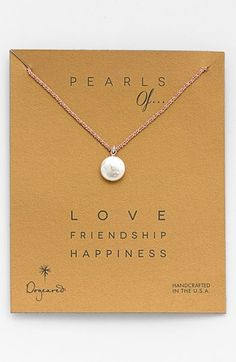 (Birthstone.) Hematite Dogeared 'Pearls of...' Boxed Coin Pearl Necklace available at #Nordstrom