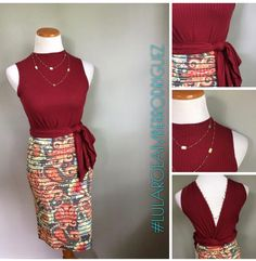 What?! Game changer alert! Check out this look for Mannequin Monday. Flip your Joy vest around and tie up the longer portions. Pair it over a Cassie pencil skirt for a sassy and comfortable look! #lularoeamberrodriguez #lularoe #lularoejoy #lularoecassie