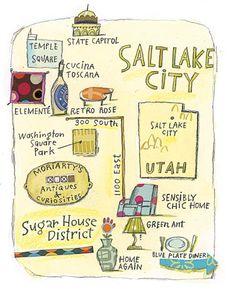 Salt Lake City Illustrated  #remax #remaxmetroutah #remaxmetro #ronsnow #food #slcutah #slc #saltlakecity #utah #buyahomeinutah #www.buyahomeinutah.com