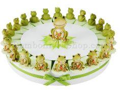 Torta bomboniera con 22 fette ranocchiette saltarelle confetti inclusi #tortabomboniera #ranocchio #occasione #primacomunione