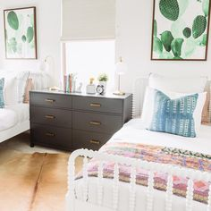 Bohemian girls bedroom. Pure Salt Interiors.