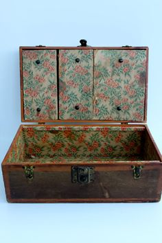 Antique Wooden Doll Trunk