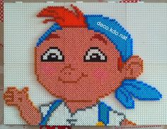 Cubby - Jake and the Never Land Pirates hama perler beads by deco.kdo. nat - Pattern: http://www.pinterest.com/pin/374291419004502568/