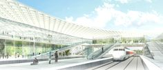 Silvio d'Ascia Wins Competition to Design Morocco Rail Station,View from…