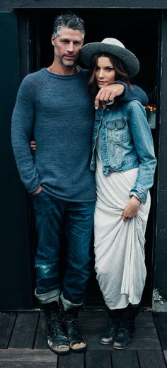 #Denim, boho chic, Bryan Randall and Jana S. photographed by Anais & Dax for Kinfolk Magazine.