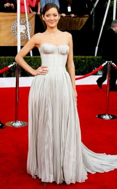 Marion Cotillard from Best Dressed Stars Ever at the SAG Awards  Fairytale alert! Marion's 2008 Nina Ricci gown is a princess' daydream.