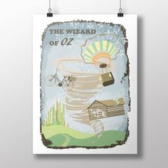 The Wizard of Oz musical film poster. An instant download and internacional shipping print, link: www.etsy.com/shop/ArtsAndTravelPrints