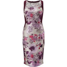 Adrianna Papell Jacquard Jersey Sheath Dress, Purple/Multi ($210) ❤ liked on Polyvore featuring dresses, sequin shift dress, sequin mini dress, purple dress, purple maxi dress and maxi dresses