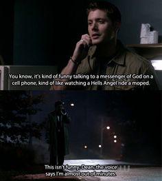 Castiel & modern technology #supernatural geekery
