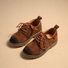 Classic England Vintage Style Children Shoes Boots Boys Girls Leather  Sneakers Casual Baby Sneakers 858bf954a505