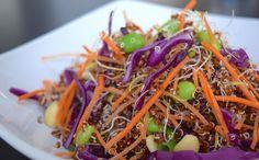 Rainbow quinoa salade