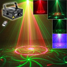 New IR Remote Mini 24 Patterns RG Laser Crossover Effect Projector 3W Blue LED Light Mixing Effect DJ Stage Lighting AZ24RG