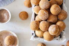 Cinnamon Baked Doughnut Holes | King Arthur Baking Baked Doughnut Holes, Donut Hole Recipe, Doughnut Muffins, Baked Doughnuts, Doughnut Cake, Donut Holes, All You Need Is, Cinnamon Muffins, Recipes