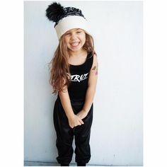 """Little Wonderland Clothing on Instagram: """"Santa Baby! <<love some black + white>> Tinley looking to cute, ready for Christmas!! In our STRUT Leo + little joggers @rhinestonesandtutus + cute little Santa hat @franc.heart + tattoos always a must @duckystreet  Get Strutting this Manic Monday!! ️ #bossy #fashion #fashionista #kidsfashion #boy #streetwear #hiphop #hipkidfashion #trendy #style #igkiddies #stylish #stylishkids #toddler #littlewonderlandclothing #love #ootd #joggers"""