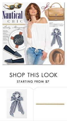 """Nautical chic with Lady Margaret"" by purpleagony ❤ liked on Polyvore featuring Esther Williams, Altuzarra, Summer, Sailor, nauticalstyle, espadrilles and ladymargaret"