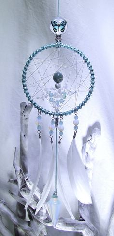 SALE 20% OFF Small Mint Butterfly Dream Catcher by TigerEmporium