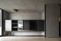 one work design Master Bedroom Interior, Interior Design Living Room, Living Room Designs, Tv Console Design, Tv Wall Design, Modern Interior Design, Interior Design Inspiration, Cladding Design, Wall Cladding